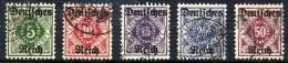 DEUTSCHES REICH 1920 Overprints On Württemberg Set Of 5 Used.  Michel 52-56 - Officials