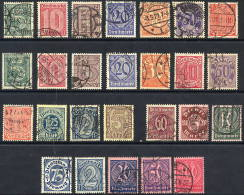 DEUTSCHES REICH 1920-23 Official Issues Complete Except 1921 10 Pfg. And 1923 10 Mk. Used.  Michel 16-33, 66-74 Exc. 71 - Officials