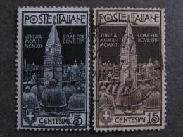 """ITALIA Regno -1912- """"Campanile Di S. Marco"""" Cpl. 2 Val. US° ( Descrizione) - Used"""