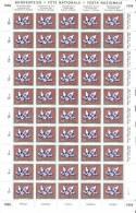 """Schweiz: PP 1959: Zu-Nr. 94 """"Amethyst""""  Im Bogen ** MNH  (Zumstein CHF 101.00) - Minéraux"""