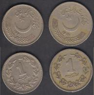 PAKISTAN COINS 1 Rupees Coper 1981 Big & Small 2 Sizes - Pakistan