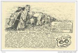 """""""Cadillac Ranch"""", Amarillo, Texas, Route 66 Highway, 60-70s - Route '66'"""