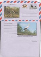 UGANDA , AEROGRAMME,MINT,BIRDS, FISH EAGLE, CRANES, STORKS,  NICE - Kraanvogels En Kraanvogelachtigen