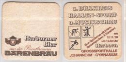 Bärenbräu Herborn , 1 Dillkreis Hallen Sport U Musikschau 1988 - Beer Mats