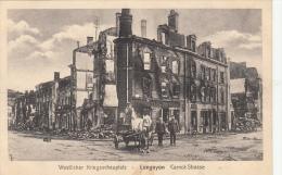 Carte Photo Allemande- LONGUYON Carnot-Strasse 1915 Dép54 (2 Scans) - Longuyon