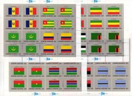 Kleinbogen Flaggen VII 1986 UNO New York 499/14+4KB ** 55€ ETHIOPIA Laos Obervolta Gambia Island Angola Flag Sheet Bf UN - Haute-Volta (1958-1984)