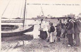 CPA 29 Carantec - Le Baptême D´une Barque (le Galilo) - Superbe Animation - Autres Communes