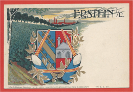 67 - ERSTEIN - Litho Couleur - Blason - Armoiries - Ecusson - Wappen - Shield - Coat Of Arms - Francia