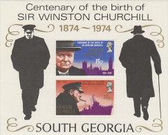 South Georgia-1974 Churchill Souvenir Sheet MNH - South Georgia