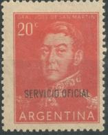 Argentina 1955  Official   20 Centavos - Scott O95  MH - Servizio