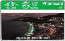 PAPUA NEW GUINEA 10 U ELA BEACH PORT MORESBY SUNSET L & G  PNG-04  MINTCV$40US READ DESCRIPTION !!! - Papua New Guinea