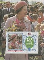 Virgin Islands-1986 60th Birthday Queen Elizabethh Souvenir Sheet MNH - British Virgin Islands