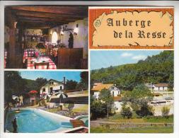 LA SALVETAT /AGOUT 34 - Auberge De LA RESSE (Restaurant) LOGIS DE FRANCE Carte Commerciale Format CPM GF (1980)- Hérault - La Salvetat