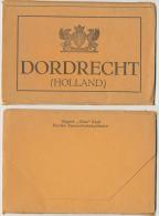 """Dordrecht """"Doka"""" Kaart Van 7 Postkarten 14x9 Cm Dordtse Kantoorboekhandelaren Stadtkaart M Buslijnen, Tramlijnen C.1930? - Dordrecht"""