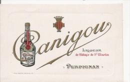 PERPIGNAN CARTE PUBLICITAIRE LIQUEUR CANIGOU DE L'ABBAYE ST MARTIN PERPIGNAN - Perpignan