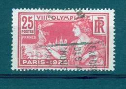 1924 N° 184 CENTRE TRES DEPLACER & ANNEAU - LUNE   OBLITERE  DESCRIPTION - Abarten Und Kuriositäten