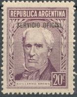 Argentina 1957  Official   20 Centavos  - Scott O108 MH - Servizio