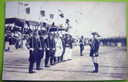 Cpa Photo TUNISIE - BIZERTE - Prise D´ Armes, Amiral Officiers - Tunisie