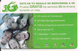 Tarjeta Regalo Amena De Bienbenida A 3G - Tarjetas De Regalo
