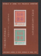 China - Taiwan (1972) Yv. Bf. 15  /  Stamp On Stamp - Sello Sobre Sello - Timbre Sur Timbre - Postzegels Op Postzegels