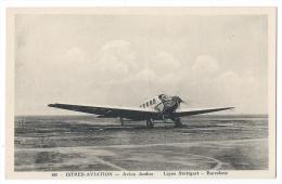 """ISTRES-AVIATION (Bouches Du Rhône) - Avion """"Junker"""" - Ligne Stuttgart-Barcelone - Combier Macon - 1919-1938: Entre Guerres"""