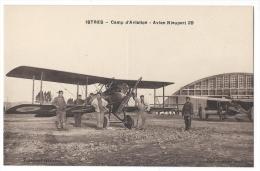 """ISTRES-AVIATION (Bouches Du Rhône)-Camp D'aviation - Pilotes Et Mecaniciens Devant L'avion """"Nieuport 29"""" - 1919-1938: Fra Le Due Guerre"""