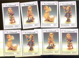 MNH STAMPS OF HUMMEL FIGURINES  # 21-1  ( UGANDA  1034-41 - Enfance & Jeunesse