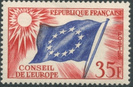 France  1958     Conseil De L´Europe    35 Francs   MNH   Scott  1O5 - Service