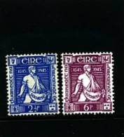 IRELAND/EIRE - 1945  THOMAS DAVIS  SET MINT NH - 1937-1949 Éire