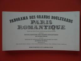 1980 Panorama Des Grands Boulevards Paris Romantique  Exemplaire N° 906 - Paris