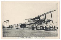 ISTRES-AVIATION (Bouches Du Rhône)- Avion Commercial Anglais - Phot. Combier, Mâcon N°358 - 1919-1938: Entre Guerres