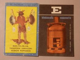 Finland 2 Old Matchbox Label - Scatole Di Fiammiferi - Etichette