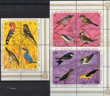 Singvögel WWF 1970 Burundi 633/644 In 3xER-Block O 15€ Gartenrotschwanz Stelze Pirol M/s Fauna Bloc Bird Sheet Bf Africa - Burundi