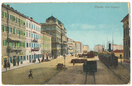 FIUME Riva Szapary Street Life (Corner Bend) 1911 Sent To Denmark - Croatia