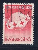Denmark, Scott # B26 Used Globe, Red Cross Flags, 1959 - Denmark