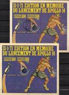 Kopplung US-Raumflug Apollo 14 Zum Mond 1971 Gabun Block 18 ** Plus O 15€ Eintritt In Atmosphäre Bloc Sheet Of Gabonaise - Gabon (1960-...)
