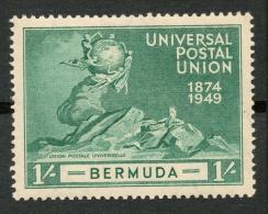 BERMUDA 1949 1s MH(*) SG 133 -CA - Grande-Bretagne (ex-colonies & Protectorats)