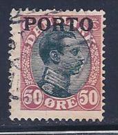 Denmark, Scott # J7 Used King, Overprinted, 1921, Thin - Port Dû (Taxe)
