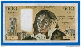 500 Fr 4/11/1976 - 500 F 1968-1993 ''Pascal''
