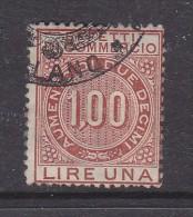 ITALY: REVENUE: EFFETTI COMMERCIO - 1LIRE Brown, Used - Steuermarken