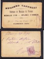 ITALY: REVENUE:RUGGERO CAPELLI, MOSAIQUE DE FLORENCE, 5c Marca Da Bollo, 1894 - Steuermarken