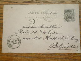 Carte Postale ( Anno 1888 Nice / Hasselt ) - ( Zie Foto Voor Details ) !! - Nice