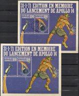 Mond-Mission Apollo14 Kopplung Raumflug 1971 Gabun Block 19 ** Plus O 15€ Eintritt In Atmosphäre Bloc Sheet Bf Gabonaise - Gabon (1960-...)