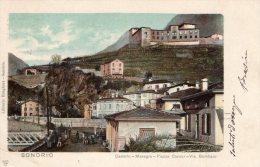 [DC8380] SONDRIO - CASTELLO MASEGRA - PIAZZA CAVOUR VIA GOMBARO - Viaggiata 1903 - Old Postcard - Sondrio