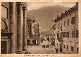 [DC8387] SONDRIO - PIAZZA ROMA E CORSO XXVIII OTTOBRE - Old Postcard - Sondrio