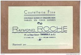 PUY DE DÔME - CARTE DE VISITE - COUTELLERIE FINE - RAYMOND ROCHE - Tarjetas De Visita