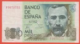 ESPAGNE - 1.000 Pesetas Du 23 Octobre 1979 - Pick 158 SUP - [ 4] 1975-… : Juan Carlos I