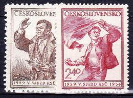 ** Tchécoslovaquie 1954 Mi 846-7 (Yv 750-1), (MNH) - Nuovi