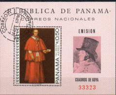Maler Goya Gemälde 1968 Panama Block 79 O 13€ Kardinal Bourbon Blocchi M/s Christmas Painting Bloc Art Sheet Bf America - Panama