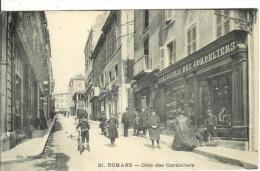 ROMANS-sur-ISERE.....DROME....Cote Des Cordeliers...belle Animation ,magasin Horlogerie Des Cordeliers - Romans Sur Isere